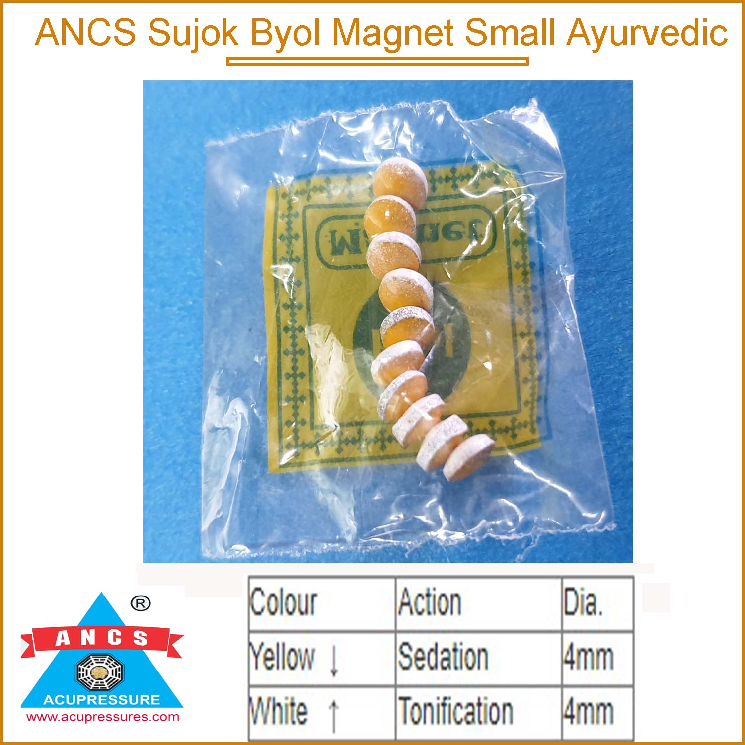 Sujok Byol Magnet Small Ayurved (Set-10)